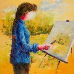 Peindre sur le motif Huile sur empâtement 20x16 450 $